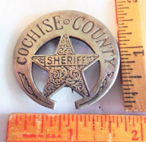 vintage Cochise Sheriff badge collectible old West cowboy Southwestern pinback