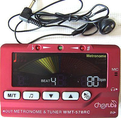 Cherub WMT-578 RC 3 in 1 Metro-Tuner / Chromatisches Stimmgerät in Rot