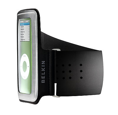 Belkin Black Sports Gym Armband Cover Case for Ipod Nano 5G 4G 2G 1G F8Z153-KG Ipod Nano 5g Armband