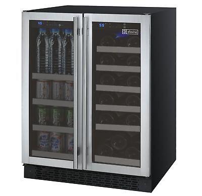 Allavino Built-In Wine Refrigerator & Beverage Center Stainless Steel Dual Zone Dual Zone Beverage Center