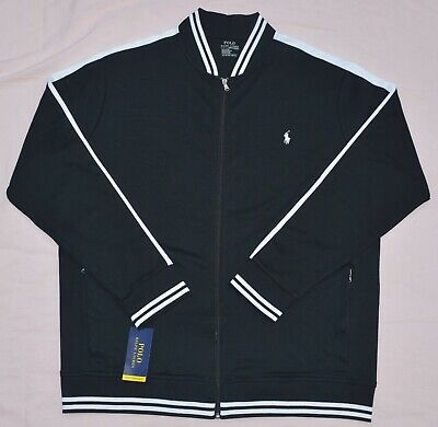 POLO RALPH LAUREN Baseball track Jacket Mens Big and Tall black 2XB 3XB 2XLT NEW