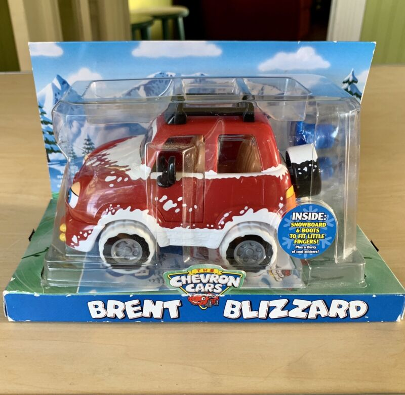 Chevron Cars Brent Blizzard w/ Snowboard New In Box Collectible Collectors Toy