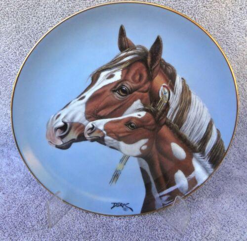 """HORSE PLATE """"Morning Greeting"""" Danbury Mint Heritage Of Horses 1993 Derk Hansen"""