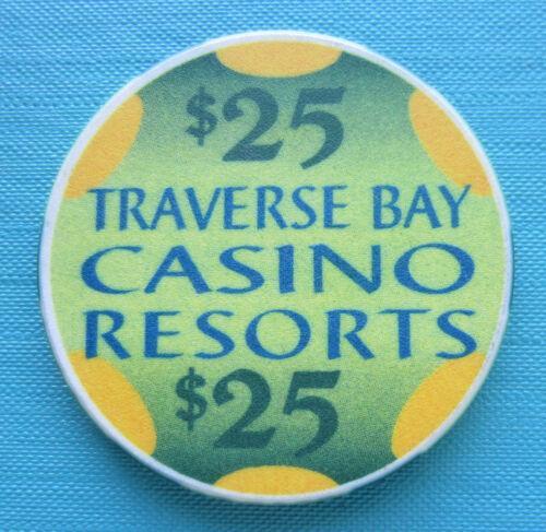 TRAVERSE BAY TRAVERSE CITY, MICHIGAN $25.00 CASINO CHIP