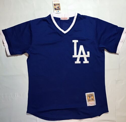 Los Angeles Dodgers LA Mesh Shirt Vintage Throwback Jersey R