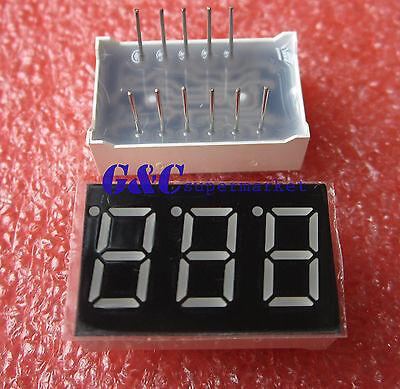 0.36 Inch 3 Digit 7 Seg Segment Common Anode Led Display Green M99