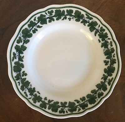 Antique German Meissen Porcelain Bread Cake Plate Green Napoleon Ivy