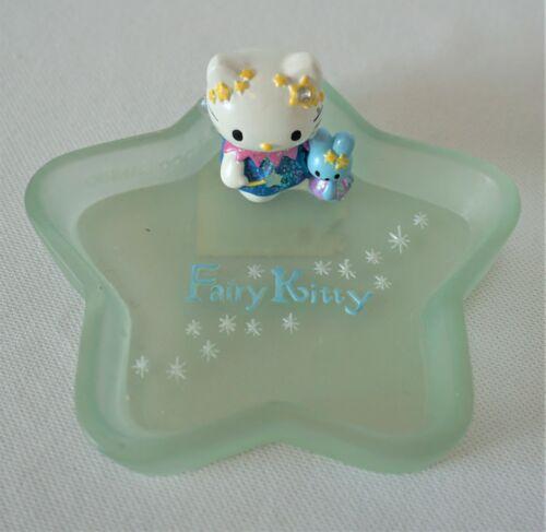 2000 Hello Kitty Fairy Vintage Trinket Ring Dish Ceramic Blue Star Sanrio X-RARE