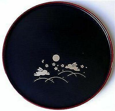 Set Of 10 Japanbargain Japanese Dinner Sushi Serving Plate Round Bunny S 2941X10