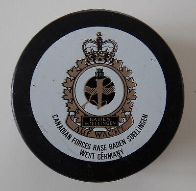 1 Vintage Hocker Puck Canadian Forces Base Baden Soellingen West Germany 1980 90