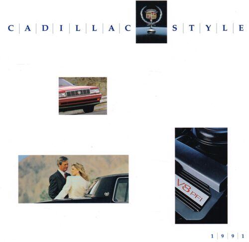 HUGE 1991 Cadillac Brochure:ALLANTE,DeVILLE,FLEETWOOD,ELDORADO,SEVILLE,BROUGHAM