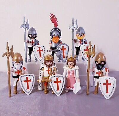 Playmobil Crusaders with King and Queen, playset,templars, castle knight figures