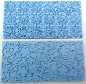 Flower Floral Impression Mat Fondant Cake Decorating Tool Embosser