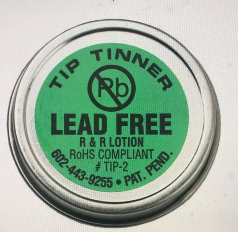 R & R Lotion TIP-2,   I.C. Lead Free Tip Tinner, 1-1/2 oz. NEW