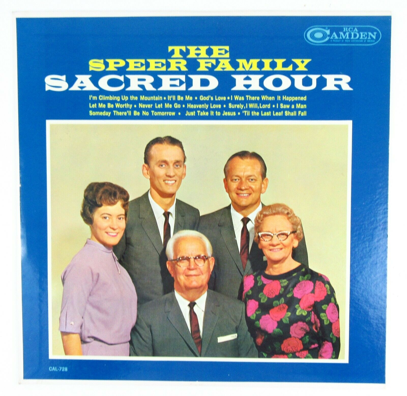 "The Speer Family SACRED HOUR Record 12"" Album Vinyl LP 1963 Gospel Devotional"