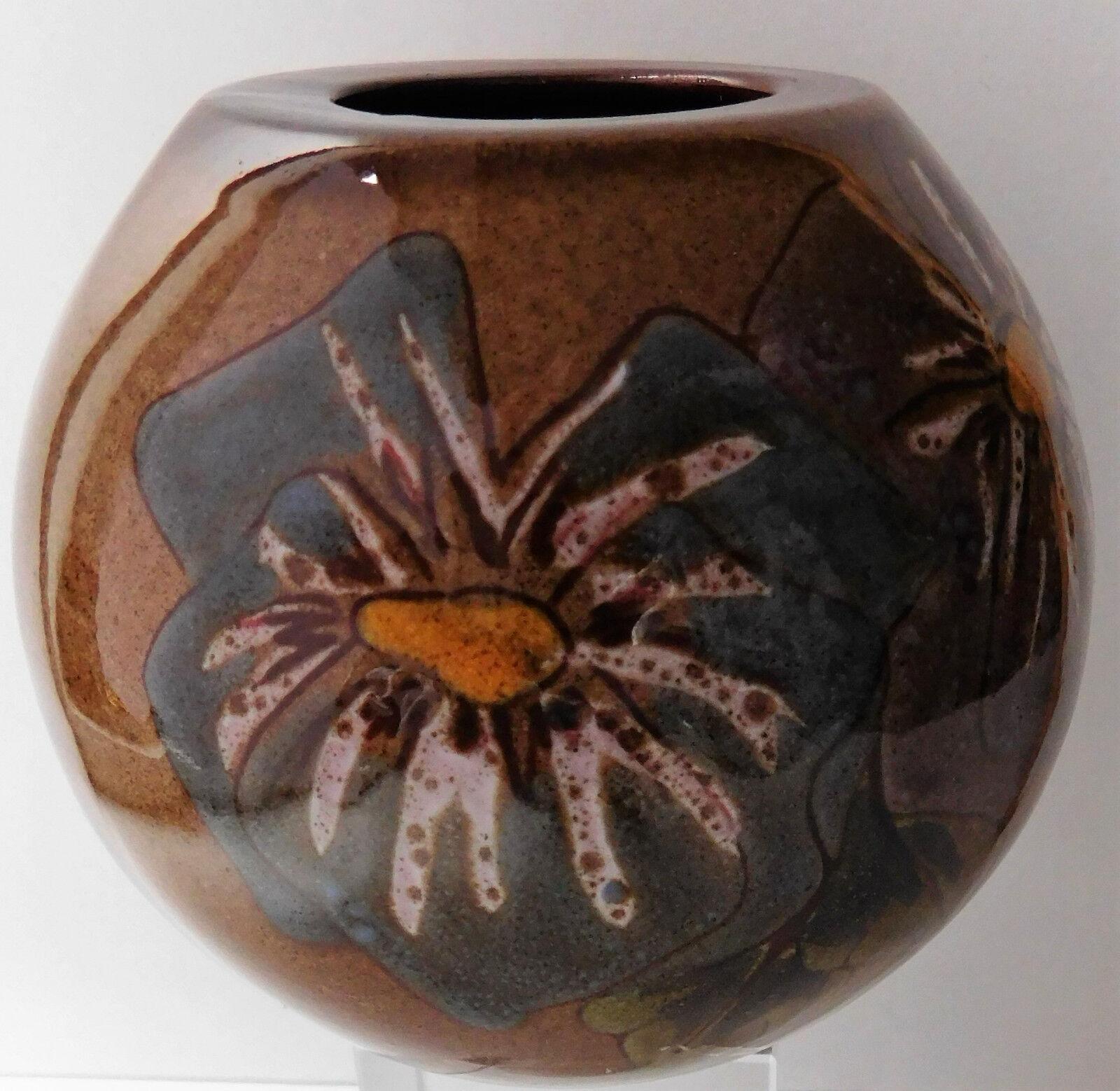 "Guernsey Pottery pot flower vase candle holder pencil pot 4"" Channel Island VGC"