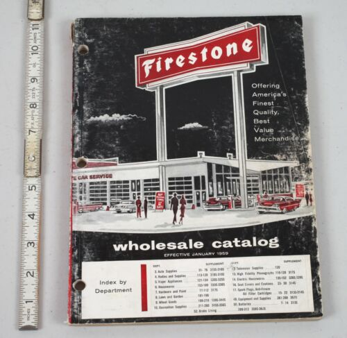 Vintage 1959 Firestone Wholesale Catalog Cool MCM Stuff in Here