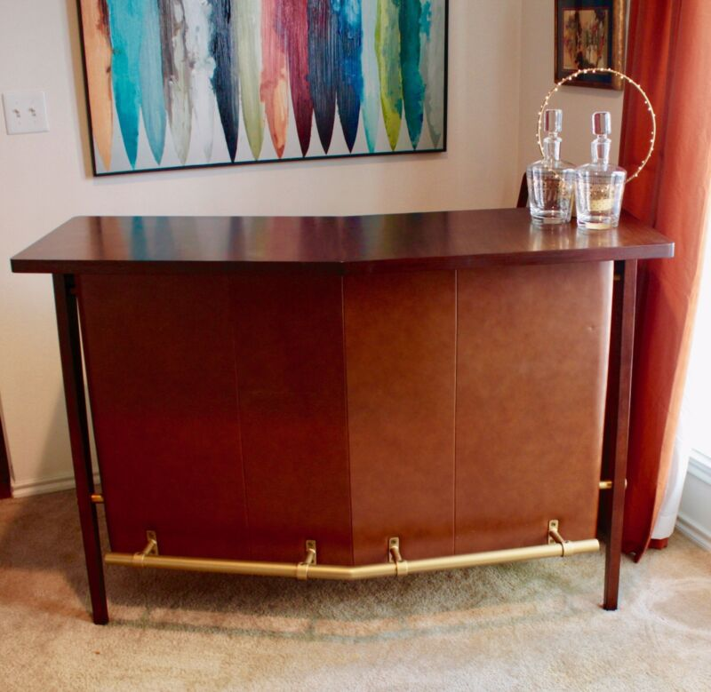 MID-CENTURY STYLE BAR (WEST ELM) - EXCELLENT CONDITION AND TOTALLY COOL!!!