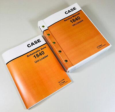 Case 1840 Uni-loader Skid Steer Service Repair Schematics Manual Shop Book
