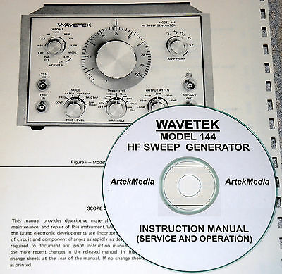 Wavetek 144 Sweep Generator Operating Service Manual Wschematics