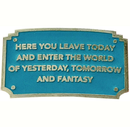 Disney Collector Pin Disneyland Welcome Plaque Here You Leave Today and Enter...