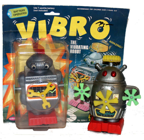 Vintage Robots Battery Operated Go Float and Vibro Rare!