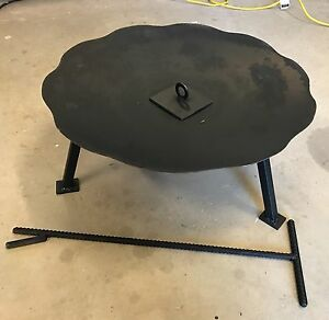 Plough disc fire pit Lake Clarendon Lockyer Valley Preview
