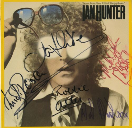 Ian Hunter & Mick Ronson +3 SIGNED You're Never Alone with a Schizophrenic Vinyl