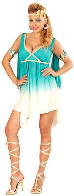 Göttin Aphrodite Turquoise Damenkostüm NEU - Damen Karneval Fasching Verkleidung
