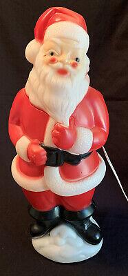 "Vintage 1973 SANTA CLAUS LIGHTED BLOW MOLD Carolina Ent. 23"" CHRISTMAS DECOR USA"