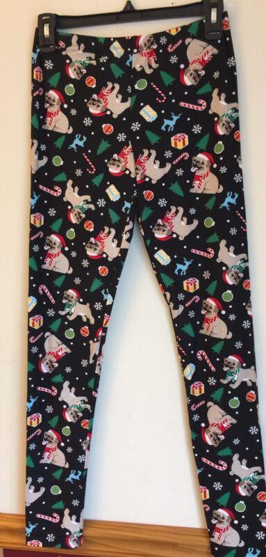 Pug Adorable Christmas Lounge/Pajama Pant/Legging
