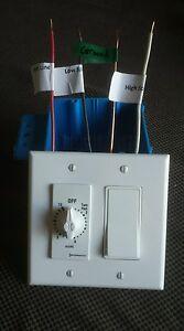QA-4800(W) Whole House Fan 2-Speed Wall Switch & Digital Timer  Whole House Fan Timer
