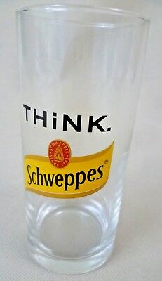 Collectable/Vintage Advertising - Think Schweppes Gin & Tonic Highball Glass