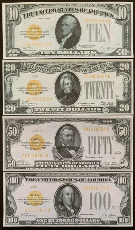 Copy Reproduction 1977 $100 Printing Error Uncut US Currency Sheet Paper Money