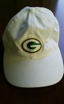 Green Bay Packers Logo Adjustable Ball Cap Official Nfl  White   Associated Bank