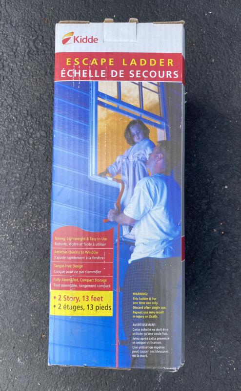 Kidde 13 Foot Two Story Emergency Fire Escape Ladder NEW OPEN BOX