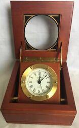 Insignia Wood Table Clock Quartz