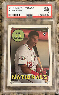 2018 TOPPS HERITAGE HIGH NUMBER JUAN SOTO RC ROOKIE PSA 9 MINT NATIONALS QTY
