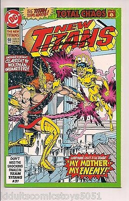 New Titans #92 Signed by George Perez W/COA ( 1992, DC)
