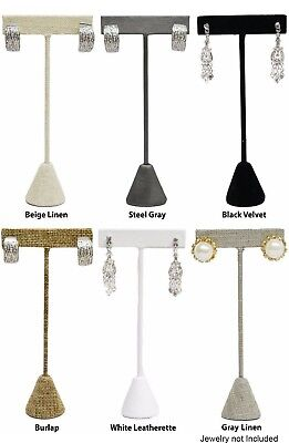 Novel Box™ Earring Tree T-Bar Display Stand in Various Sizes/Colors (3 pack) Earring Tree Box