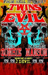 ROB ZOMBIE + MARILYN MANSON TWINS OF EVIL - July 26