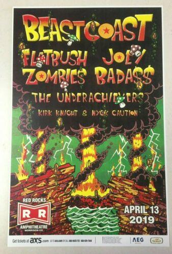 BEAST COAST 🍄 FLATBUSH ZOMBIES Joey Bada$$ 2019 Red Rocks 11x17 Promo Poster