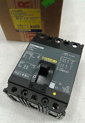 Fal36060 Square D 3pole 60amp 600v Circuit Breaker New In Box
