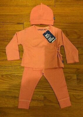 Imps Elfs Baby Girls Pink 3 Piece Wrap Outfit With Beanie 6-9m Bonpoint Style