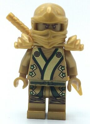 LEGO GOLD LLOYD NINJAGO MINIFIG 70503 ZX GENUINE NINJA FIG WITH SWORD & ARMOR