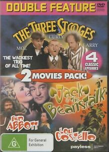 THE THREE STOOGES & JACK THE BEANSTALK 2 MOVIE PACK DVD