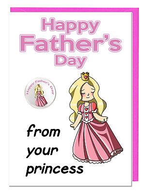 Süß Vatertag Karte & Plakette für Dad Daddy Stiefvater - aus Ihrem