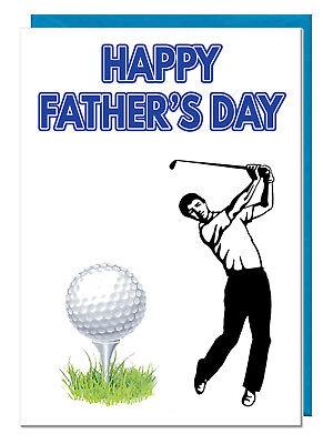 Golf Player Themen Vatertag Karte - für Vater Opa Stiefvater Daddy Ehemann