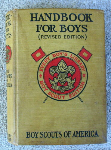 1917 Revised Handbook for Boys Boy Scouts of America Hard Cover 17th Ed.