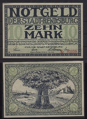 [21779] - NOTGELD RENDSBURG, Stadt, 10 Mark, 01.11.1919, Geiger 447.04 - nicht e